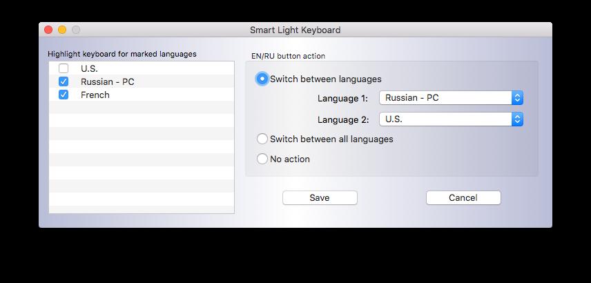 backend light keyboard